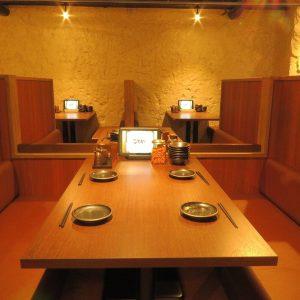 小倉の居酒屋,ごちやのテーブル席