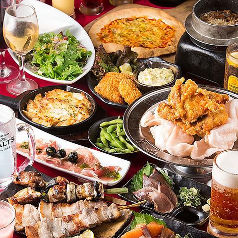 小倉にある食べ飲み放題がリーズナブルな居酒屋【炭火焼鳥酒家 ごちや 小倉店】