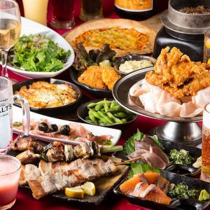 小倉で食べ放題プランがある居酒屋【炭火焼鳥酒家 ごちや 小倉店】